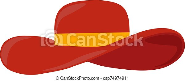 Red hat, illustration, vector on white background. - csp74974911