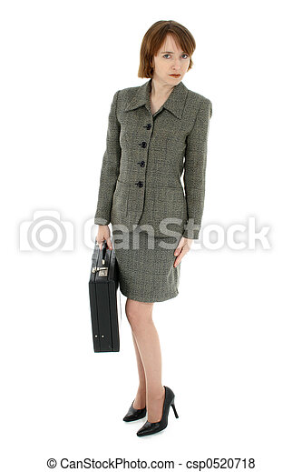 Red Headed Business Woman - csp0520718