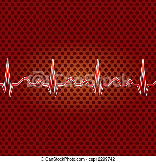 Red heart beat.  - csp12299742