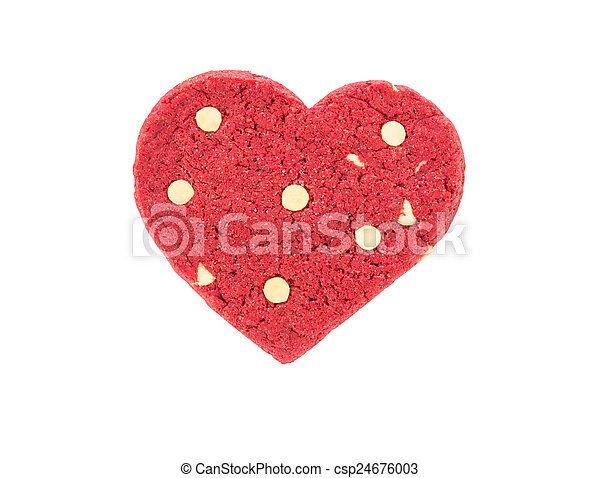 Red heart cookie - csp24676003