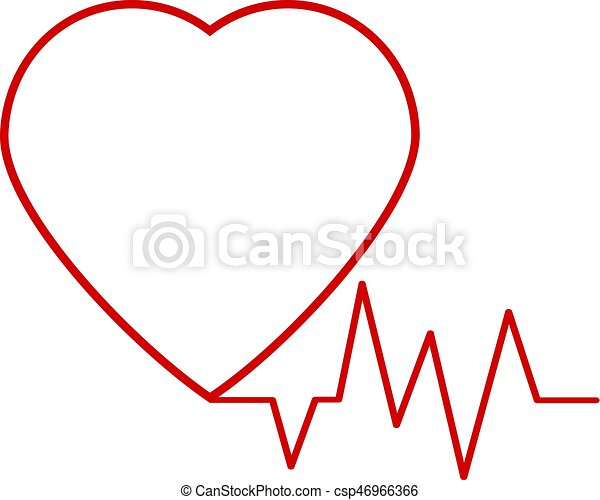 red heart icon with sign heartbeat vector heartbeat heart clip rh canstockphoto com heartbeat clipart black and white heart rate clip art free