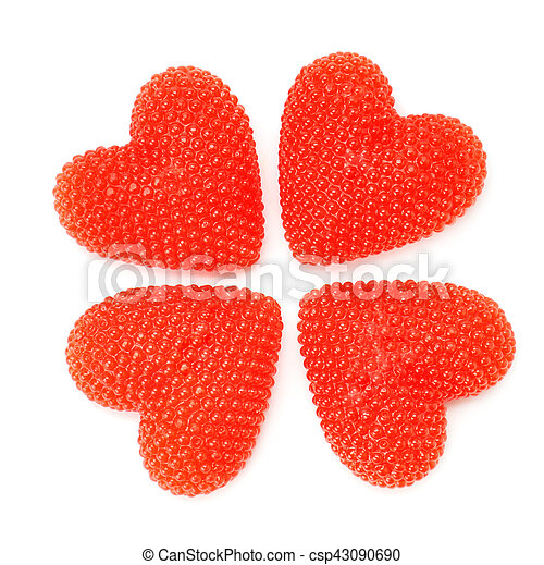 red heart isolated on white background - csp43090690