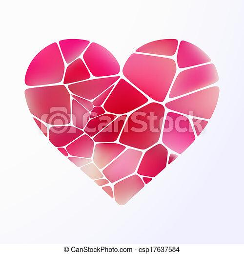 Red heart on light purple. EPS 10 - csp17637584