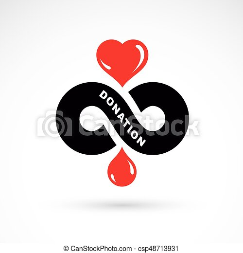 Red Heart Shape Vector Illustration Composed With Blood Drops And