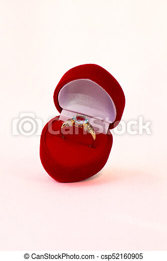 Red heart shaped box - csp52160905