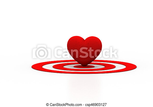 Red Heart sign on the target sign - csp46903127