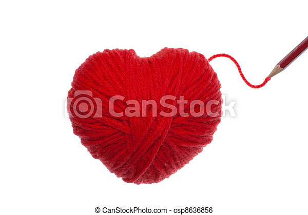 Red heart  - csp8636856