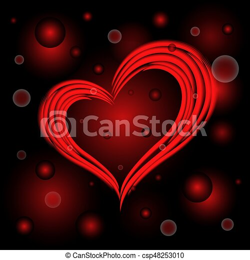 Stylized Red Heart The Symbol Of Love On A Dark Red Background With