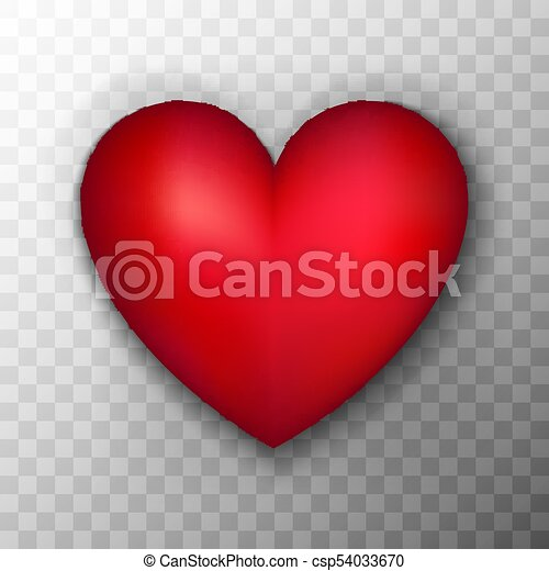 Red Heart Transparent Background Red Heart Vector Illustration Of Realistic Love Object Over Transparent Background