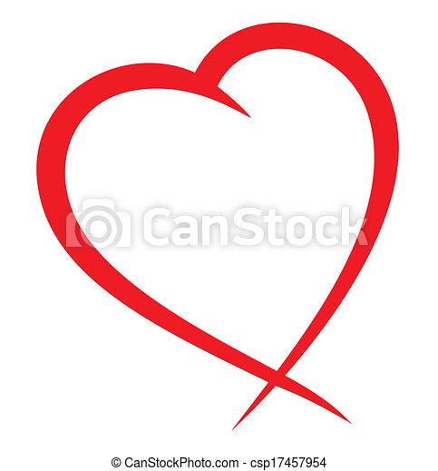 Red heart vector  - csp17457954