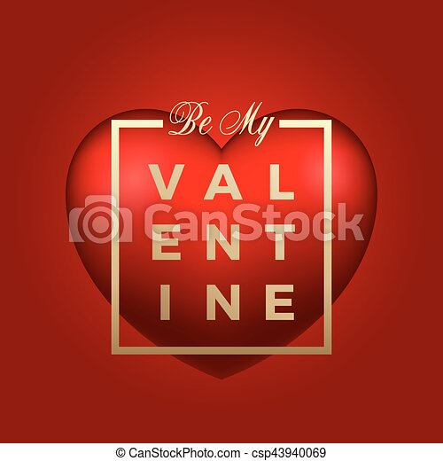 Red heart vector on background golden modern typography valentines golden modern typography valentines day greetings in a frame classy m4hsunfo