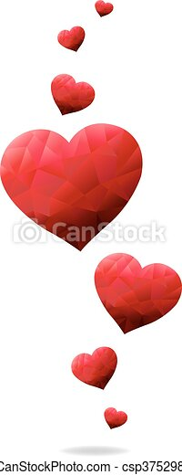 Red Hearts - csp37529869
