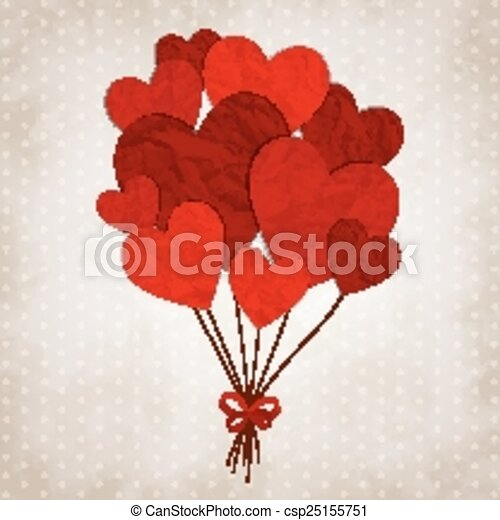 Red hearts - csp25155751