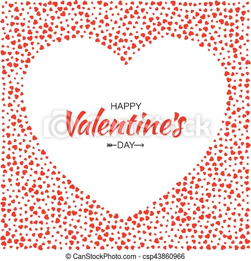 Red hearts frame background valentines day design vector card ...