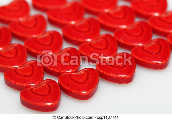 red hearts - csp1107741
