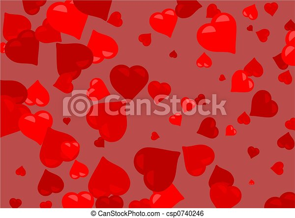 red hearts - csp0740246