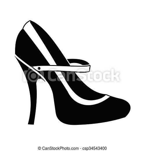 Red High Heel Shoes Icon Simple Style Red High Heel Shoes Icon In