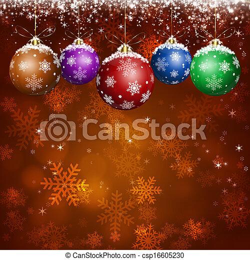 Red Holiday Xmas Greeting Card - csp16605230