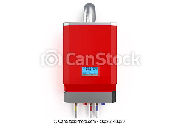 Red home gas-fired boiler,  water heater - csp25148030