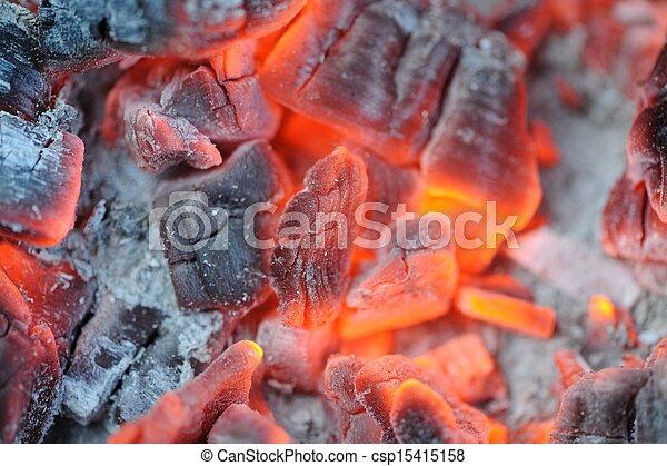 Red Hot Burning Coals - csp15415158