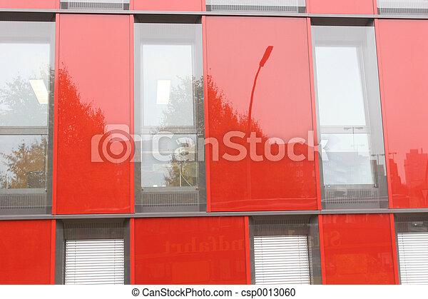 Red house facade - csp0013060