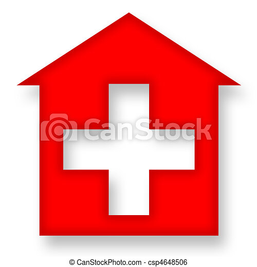 Red house with cross