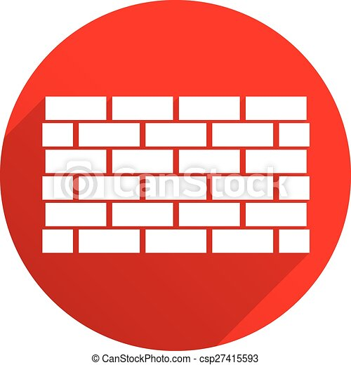 red icon with brick wall wall symbol casting diagonal eps rh canstockphoto com brick wall clipart free brick wall background clipart