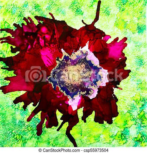 Red Ink Poppy - csp55973504