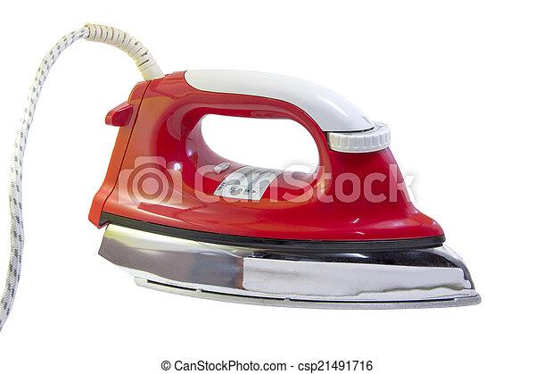 Red iron on white background - csp21491716