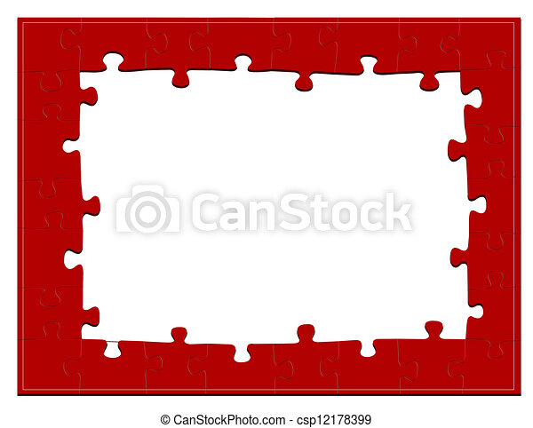 red jigsaw puzzle frame or background problem solvers maybe
