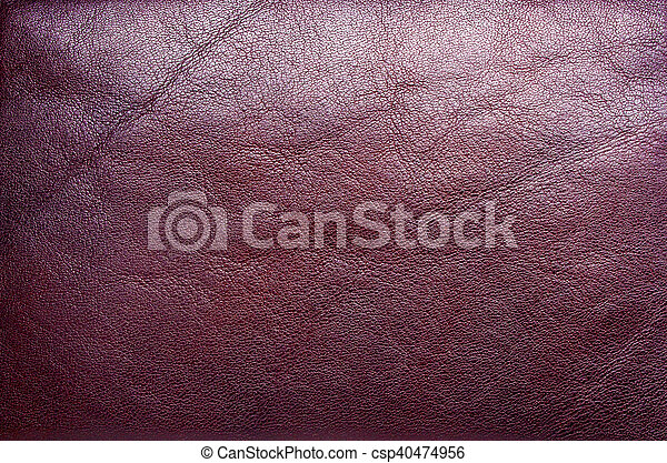 Red leather texture - csp40474956