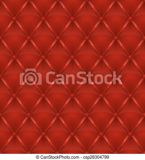 red leather upholstery seamless - csp26304799