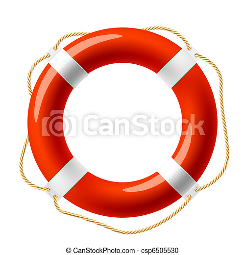 Red life buoy - csp6505530