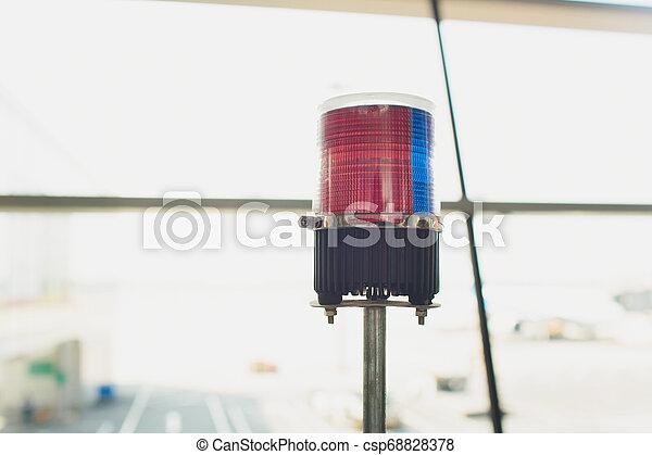 Red Light, emergency lights, Police lights, Siren. - csp68828378