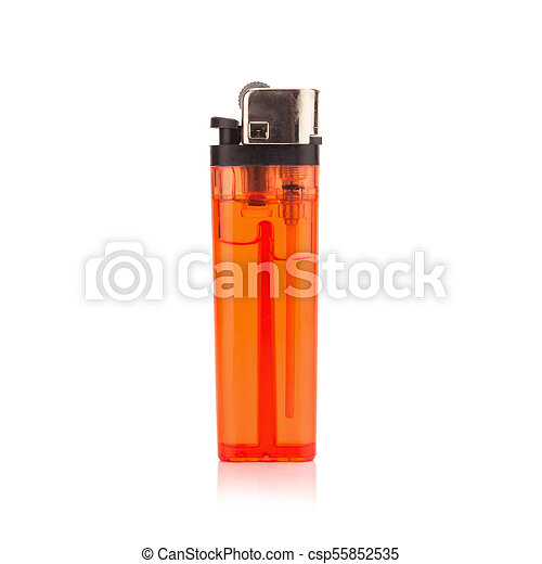 red lighter on white background - csp55852535