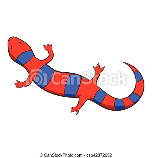 red lizard icon cartoon style red lizard icon cartoon vectors rh canstockphoto com  lizard clipart red