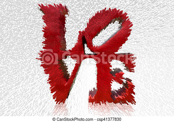 Red love letter. Red love letter isolated on white background for ...