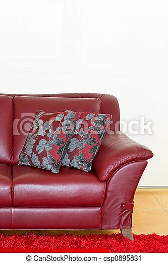 Brilliant Red Loveseat Creativecarmelina Interior Chair Design Creativecarmelinacom