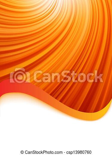 Red luminous rays. EPS 8 - csp13980760