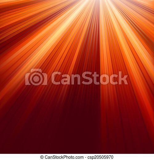 Red luminous rays. EPS 8 - csp20505970