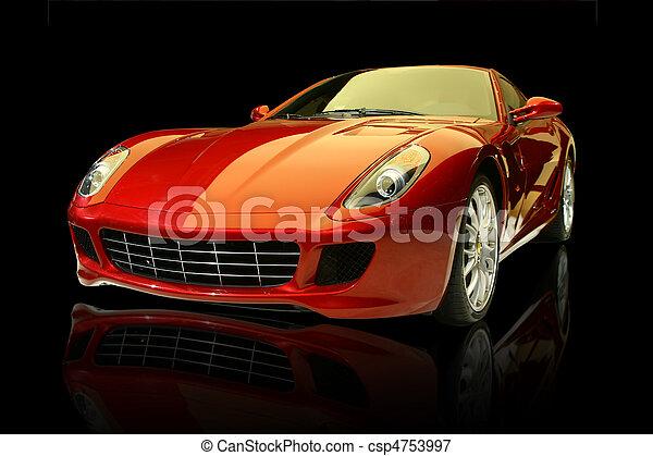 Red luxury sports car - csp4753997