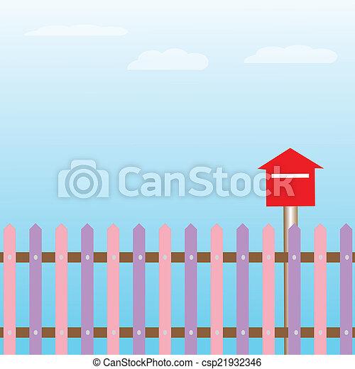 red mailbox - csp21932346