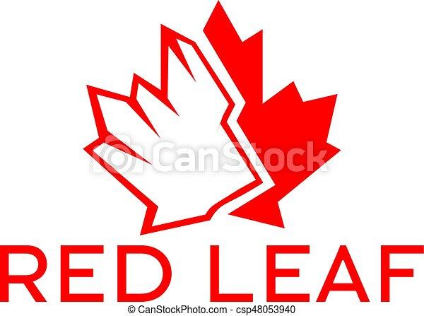 Red Maple Leaf Logo Design Canada Symbol Logo