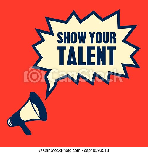 red megaphone show your talent vector illustration vector clip art rh canstockphoto com talent show clip art kids talent show clip art free