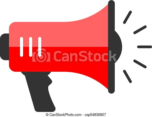 red megaphone vector icon isolated on white background vector rh canstockphoto co uk megaphone vector free megaphone vectoriel