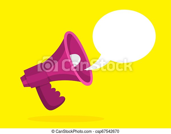 red megaphone with a speech bubble announcement red megaphone with speech bubble announcement and advertisement shout https www canstockphoto com red megaphone with a speech bubble 67542670 html