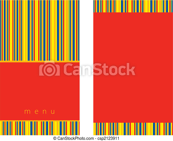 red menu design - csp2123911