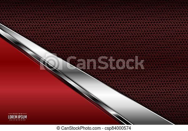 Red metallic background - csp84000574