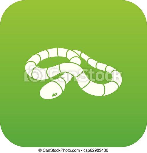 Red milk snake icon green vector - csp62983430
