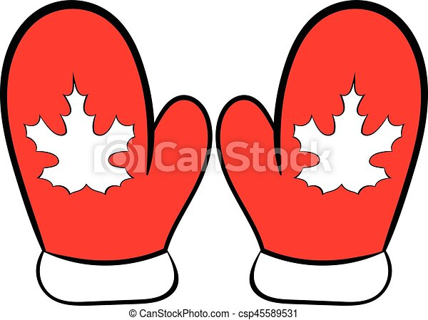 red mittens with a maple leaf icon cartoon red mittens with rh canstockphoto com mittens clip art images mitten clip art black and white